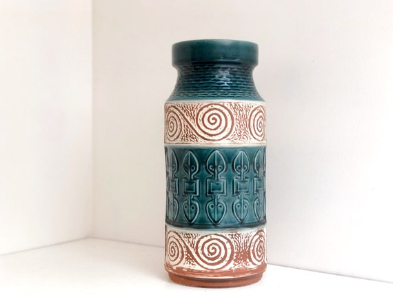 Vintage West German Ceramic Umbrella Stand