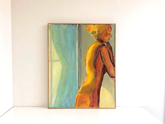 Vintage Framed Nude Woman Painting
