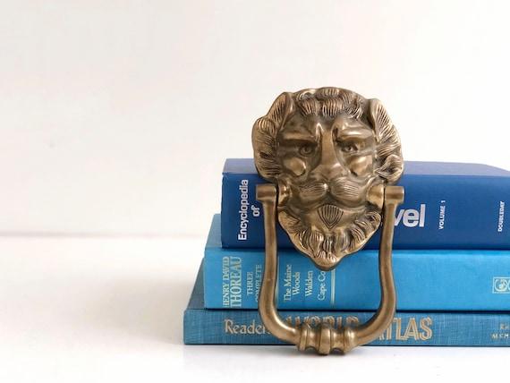 Vintage Large Brass Lion Door Knocker