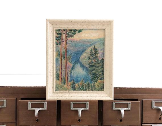 Vintage Framed Landscape/Mountains Painting