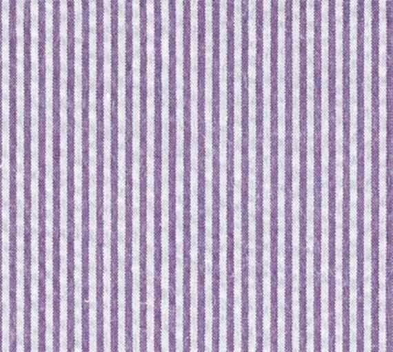 Preppy Purple Seersucker LSU Tigers Dog Bow Tie