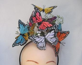 Mehrfarbige Monarchfalter Kopfstück