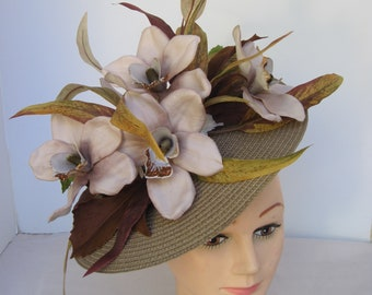 633a60e3424fe Enchanting   Striking Summer Fall Caramel n Latte Colored Orchids with  Whispy Leaves