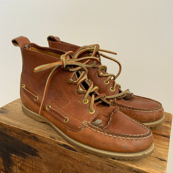 70's / 80's Timberland Lace Up Kiltie Tassel Boots