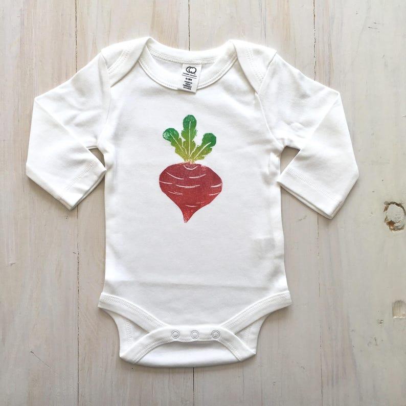 Beet Veggie Baby bodysuit organic baby clothes hippie vegan boy girl newborn clothing hipster foodie vegetable nature garden unisex  romper