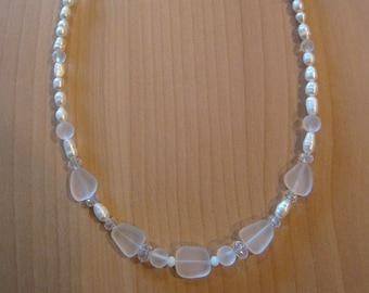 Sea Glass and Pearl Necklaces