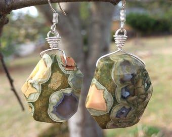 Rainforest Jasper Earrings
