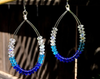 Glass Hoop Earrings, Hoop Earrings