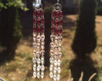 SuperDuo Seed Bead Earrings: Long Earrings
