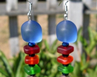 SALE - Sea Glass Earrings: Fishbone Earrings