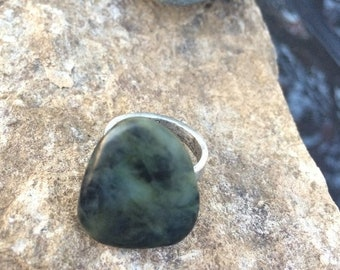 SALE - Big Sur Jade Ring: Size 8