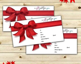 Gift Certificates Available In: 20, 30, 40 and 50 Dollars