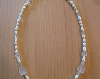 SALE - Sea Glass and Pearl Necklaces