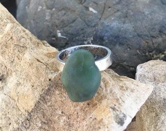 SALE - Big Sur Jade Ring: Size 7