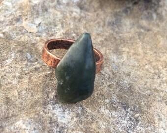 Big Sur Jade Ring: Size 7