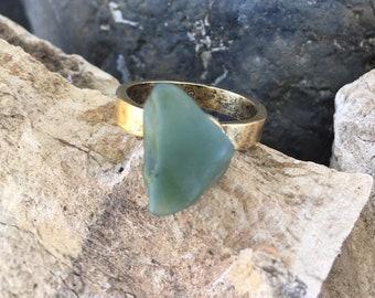 Big Sur Jade Ring: Size 8
