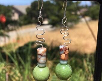 British Columbia Jade and Jasper Earrings