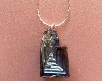 Bismuth Crystal Pendant Necklace