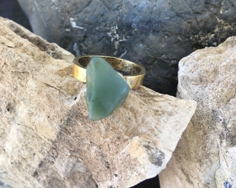Big Sur Jade Ring: Size 8