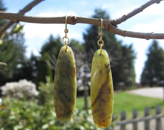 Featured listing image: Wyoming Jade (Kiwi Jade) Earrings