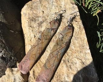 SALE - Dead Camel Jasper Earrings