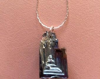 SALE - Bismuth Crystal Pendant Necklace