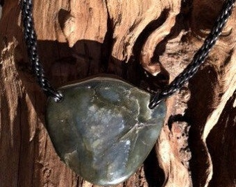 Big Sur Jade Leather Braided Necklace