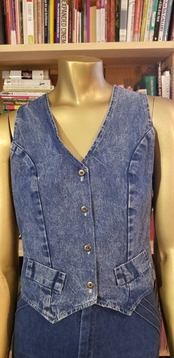 Denim Fitted Vest