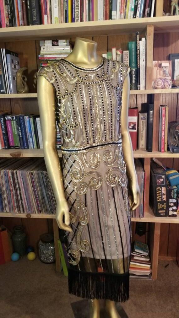 Glitzy Gold Party Dress
