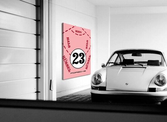 f602eeabbc2 Porsche Art Canvas Porsche Pink Pig 1971 Porsche Decor