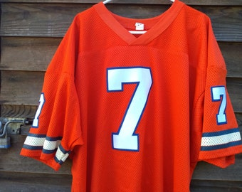 vintage Denver Broncos John Elway Jersey authentic 80s sewn 56 xxl made in  USA HOF NFL football Orange Crush 1980s Mile High Stadium shirt 448d2803a