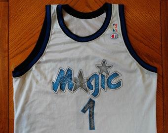 a5cba0534 vintage Penny Hardaway Jersey Orlando MAGIC early 90s NBA basketball L XL  white Champion Anfernee Hardaway Hoops 1990s Shaq Jordan rare used