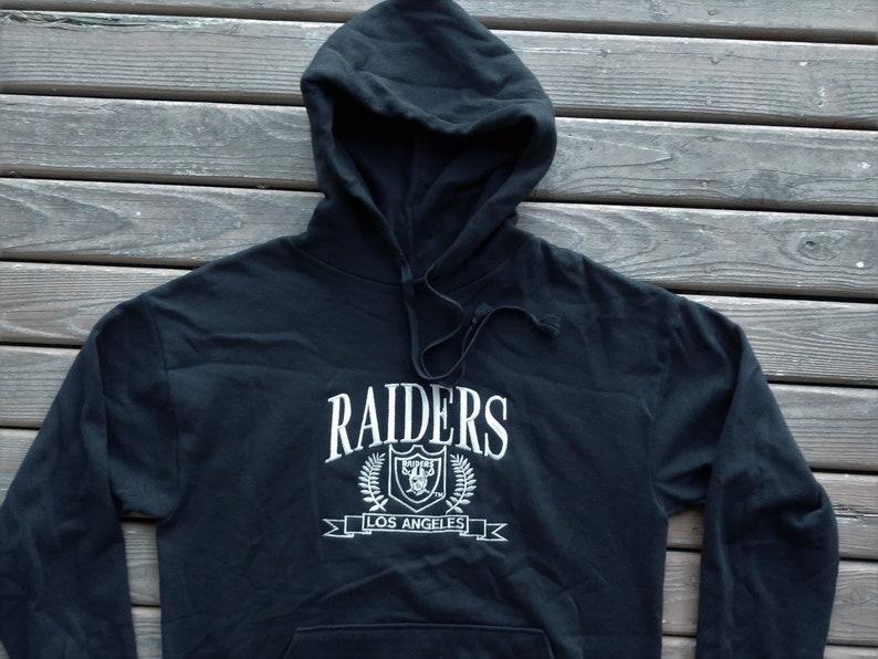 b27b74c61 vintage LA Raiders Hoodie hooded sweatshirt Los Angeles sewn embroidered  script ... vintage LA Raiders Hoodie hooded sweatshirt Los Angeles sewn  embroidered ...