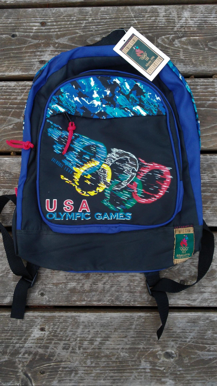 Vintage 1996 USA Olympics backpack NWT deadstock Atlanta Games  598be8c0455aa