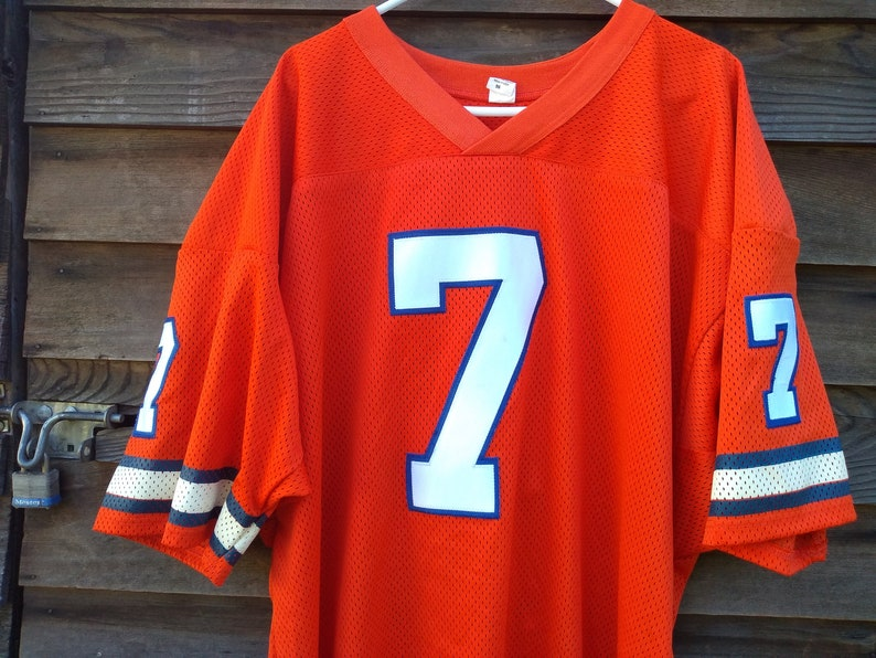 huge selection of 9e7cd b8b88 vintage Denver Broncos John Elway Jersey authentic 80s sewn 56 xxl made in  USA HOF NFL football Orange Crush 1980s Mile High Stadium shirt