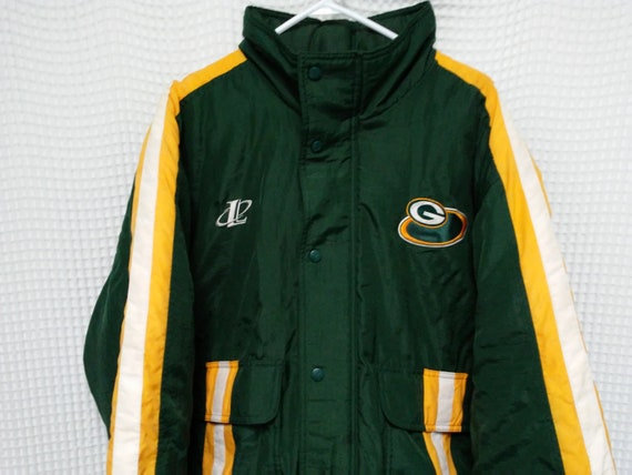 Green Bay Packers vintage Jacket 90s Logo Athletic parka bomber puffy Authentic Pro Line LXL NFL football 1990s hip hop style sportswear