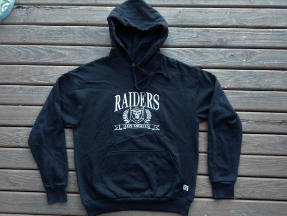 vintage LA Raiders Hoodie hooded sweatshirt Los Angeles sewn  1c31c3cb82c