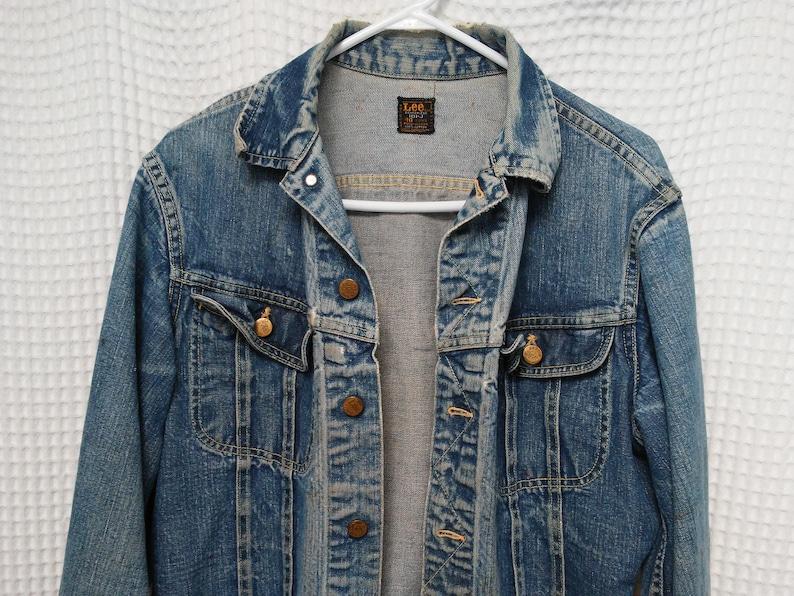 e6562ef89da Vintage 60s LEE Riders Denim Jacket Jean Jeans faded | Etsy
