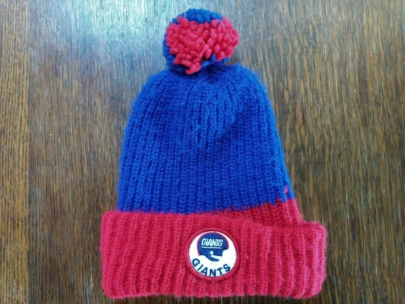vintage New York GIANTS Knit Hat skocking cap Ski wear skiing  e09ec8d7050