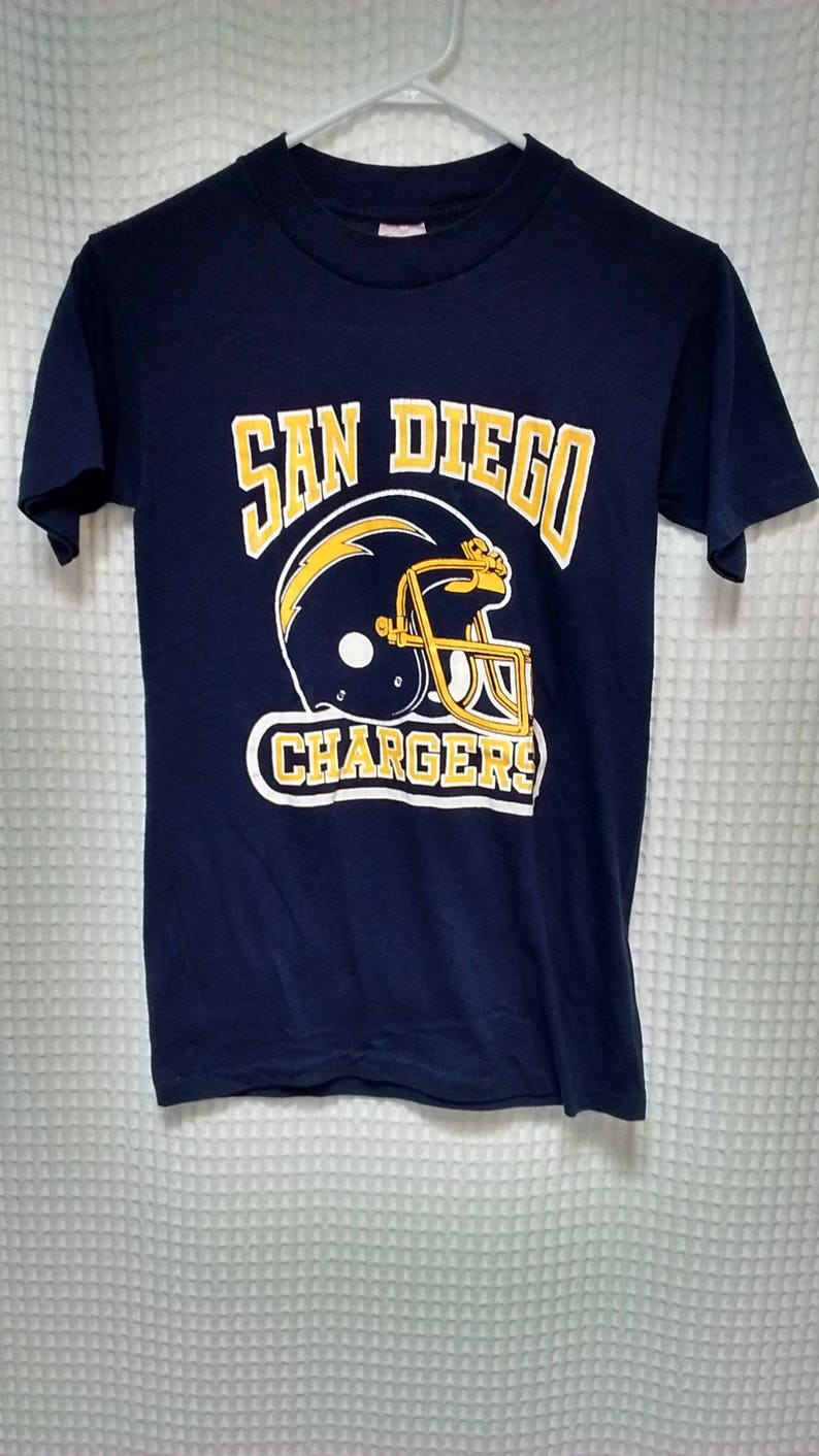 Top Vintage 70s 80s San Diego Chargers T Shirt 5050 helmet logo | Etsy