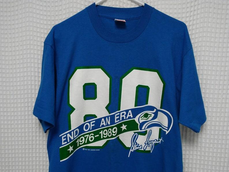Seattle SEAHAWKS vintage T Shirt Steve Largent retirement  dd7c82079