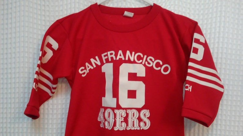 2f88d3f9091 Joe Montana 49ers Jersey Youth Small San Francisco Hutch brand