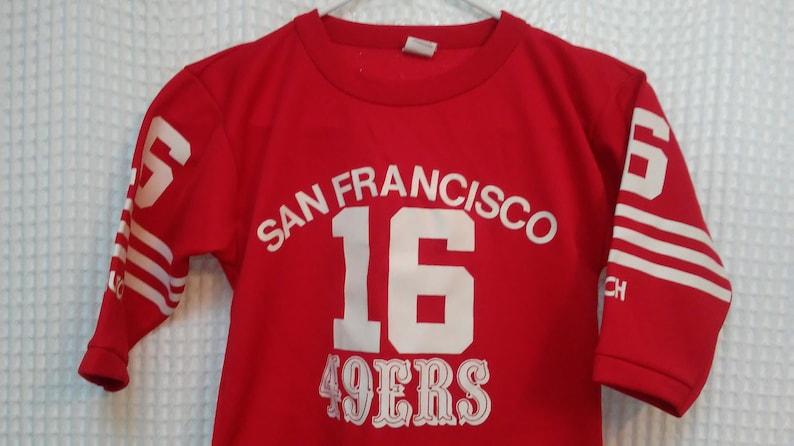 new product 2868e 62010 Joe Montana 49ers Jersey Youth Small San Francisco Hutch brand NINERS kids  fan apparel original vintage 80's 1980's Super Bowl champions USA