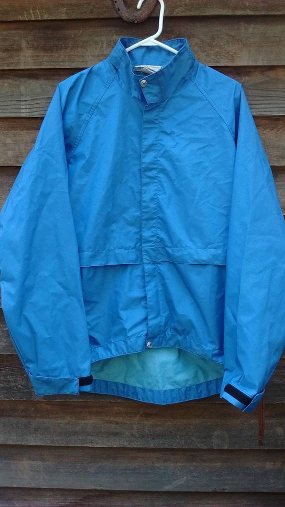 Vintage 70er Jahre REI Jacke Gore Tex blau Regen Mantel Nylon Shell Herren große volle Reißverschluss Outdoor Forschung Ausrüstung Wandern Camping