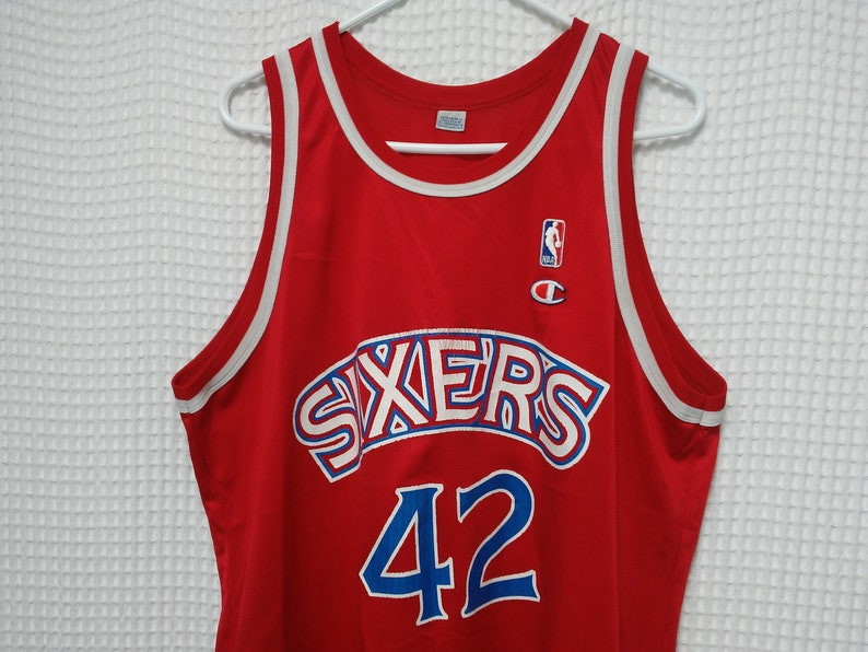 promo code 8d4e3 6925e vintage Philadelphia 76ers Jersey Jerry Stackhouse 90s Champion size 48  L/XL Red SIXERS NBA basketball rookie 1990s throwback hip hop summer