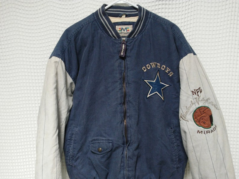 Vintage Dallas COWBOYS Jacket 90s Varsity sewn embroidered  e775e1214