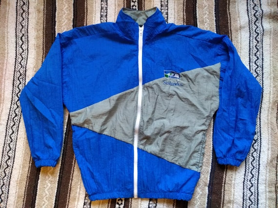 promo code 1c9f4 4fb0b Vintage Seattle SEAHAWKS windbreaker Jacket 80s 90s crepe   Etsy