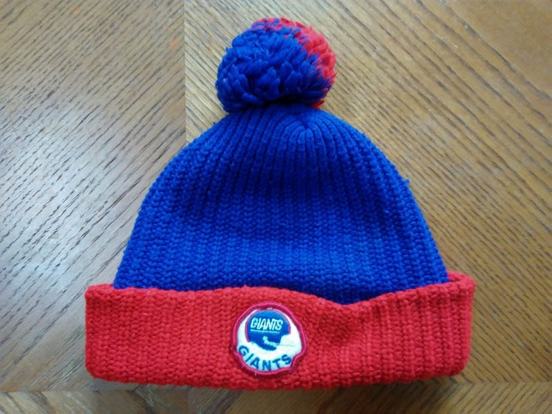 41e1575c536 Vintage New York GIANTS Knit Hat skocking cap Ski wear skiing