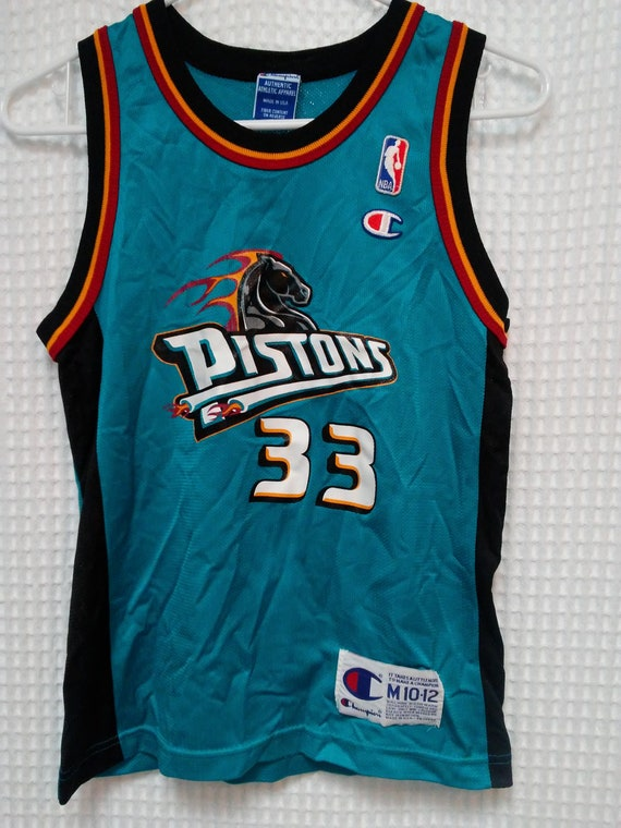 060cf1632a9 ... low price grant hill jersey vintage detroit pistons 90s youth med etsy  624a9 d31d2