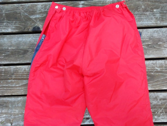 c34b0667e Vintage 60s SKI Pants Edelweiss made in Japan red bibs snow